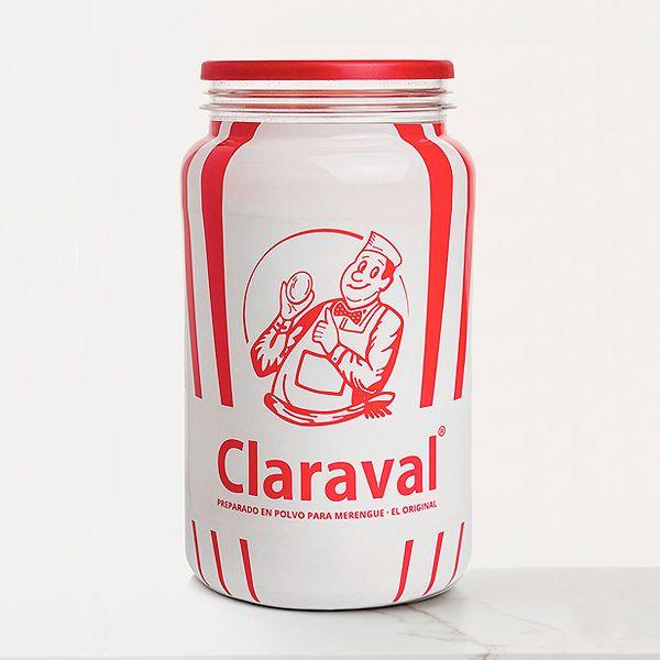 Claraval merengue en polvo bote de 1 kilo ideal para preparar merengue casero italiano, etc...