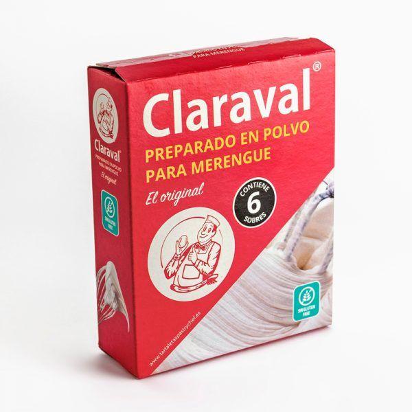 Preparado para merengue en polvo estuche 6 sobres 12,5 gramos Claraval