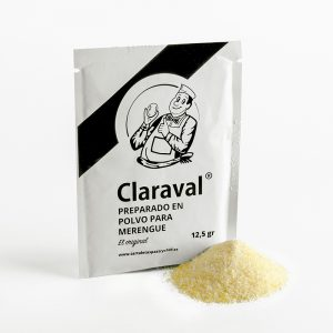 Preparado para merengue en sobres de 12,5 gramos de la marca Claraval