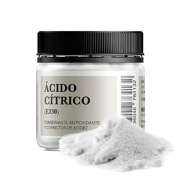 Bote 100 gramos acido citrico e330 conservante antioxidante y corrector de acidez
