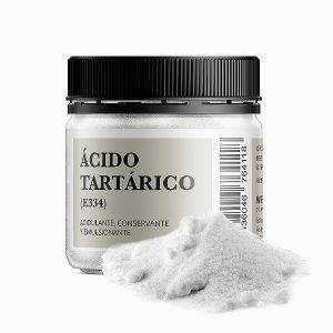 Acido Tartarico bote de 100 gramos acidulante conservante y emulsionante