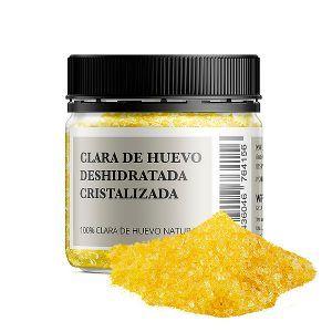 Bote 100 gramos Clara de huevo deshidratada cristalizada 100% natural