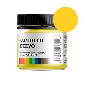 Colorante alimentario amarillo huevo en polvo bote 50 gramos