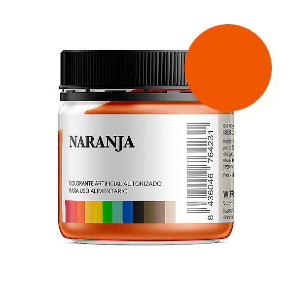 Colorante alimentario naranja en polvo bote 50 gramos