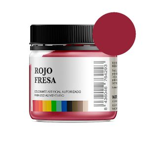 Colorante alimentario rojo fresa en polvo bote 50 gramos