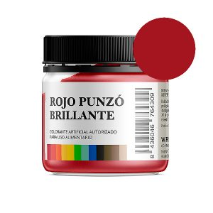 Colorante alimentario rojo brillante en polvo bote 50 gramos