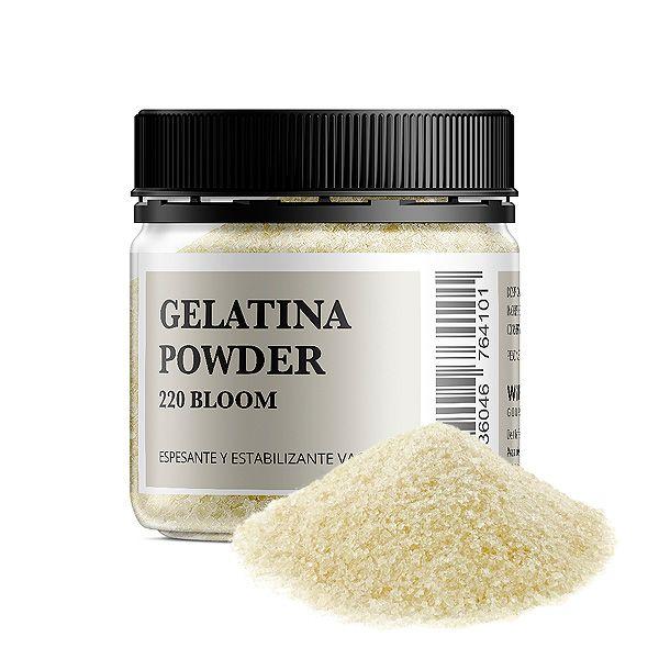 Bote de 100 gramos y 1 kilo Gelatina Powder 220 Bloom