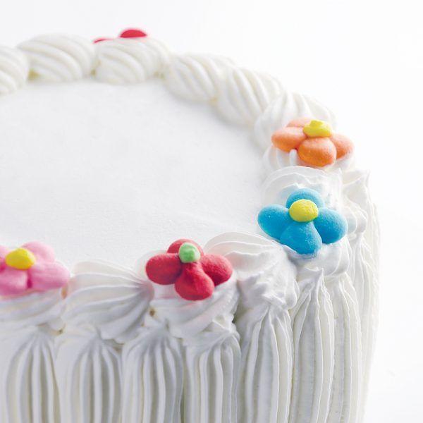 Flores de azúcar colores surtidos para decorar tartas y dulces