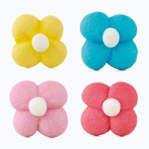 Flores de azúcar mini diferentes colores decorar tartas y dulces