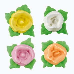 Rosas grandes de azúcar colores surtidos amarillo blanco rosa y naranja